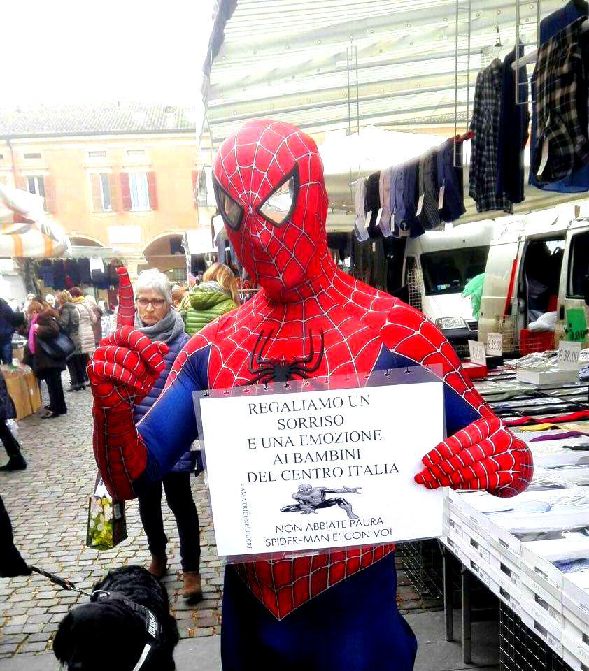 Mauro Merlino Walks Across Italy in Spider-Man Costume for Earthquake Victims