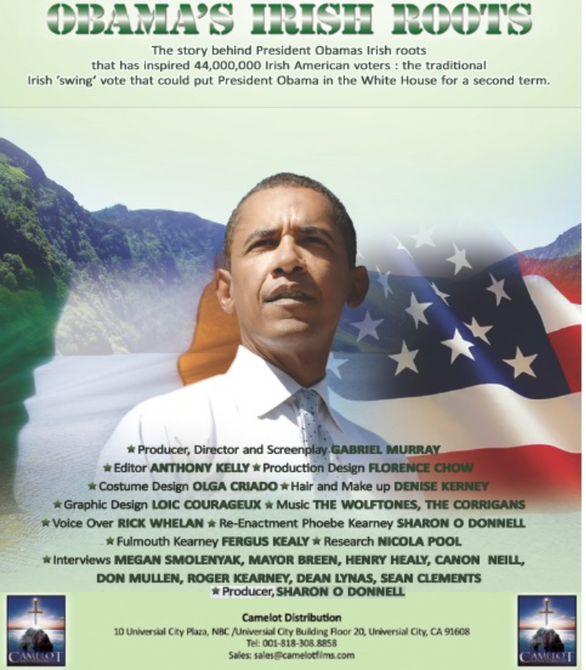 Obama visits ancestors tomb and distant relatives in Ireland.